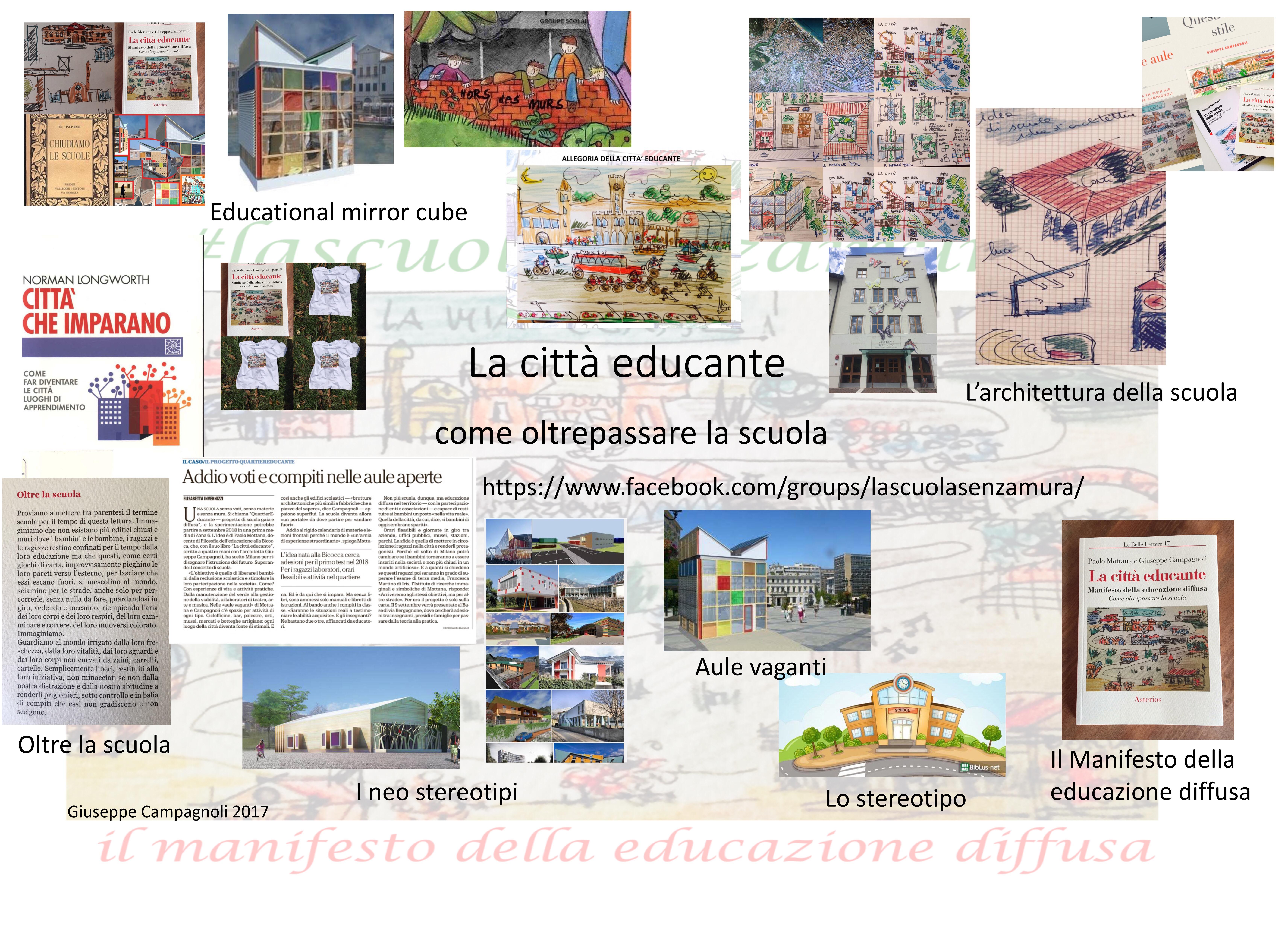 """Anteprima del """"Disegno della città educante"""". Appunti prima dell'uscita del libro tra architettura ed educazione."""