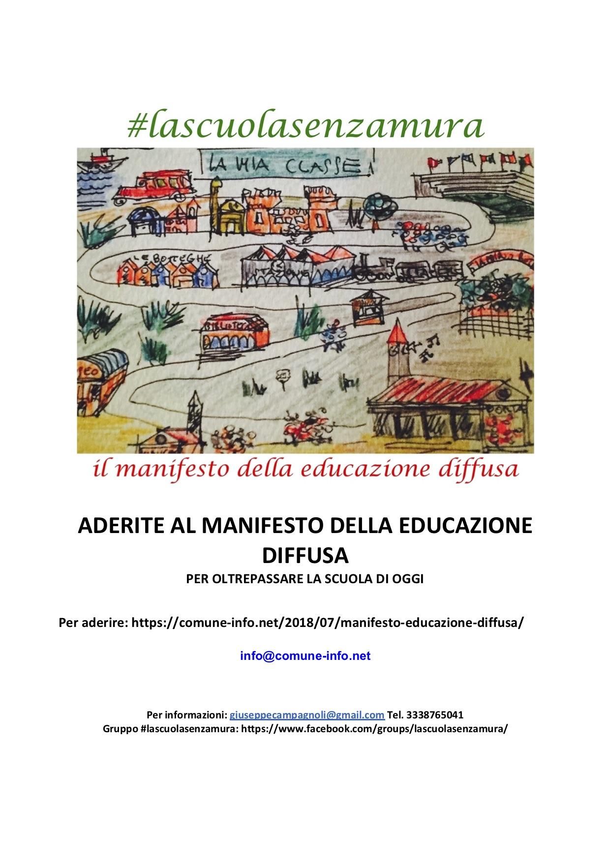 Manifesto dell'educazione diffusa – Comune-info